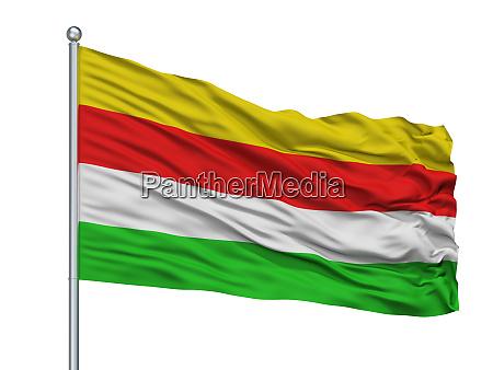 maaseik city flag on flagpole belgium