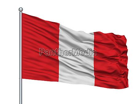 hoogstraten city flag on flagpole belgium