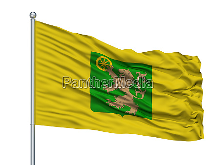 le roeulx city flag on flagpole
