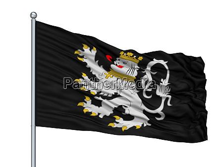 gent city flag on flagpole belgien