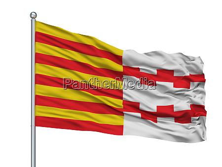 hamont achel city flag on flagpole
