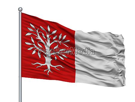 herentals city flag on flagpole belgium
