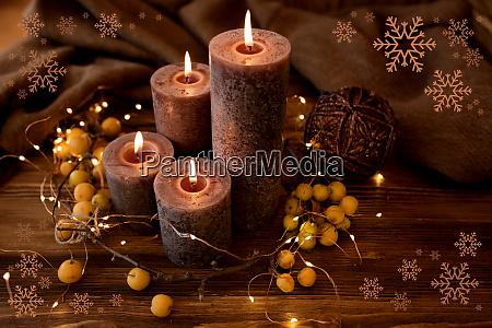 weihnachtskerzen noch leben