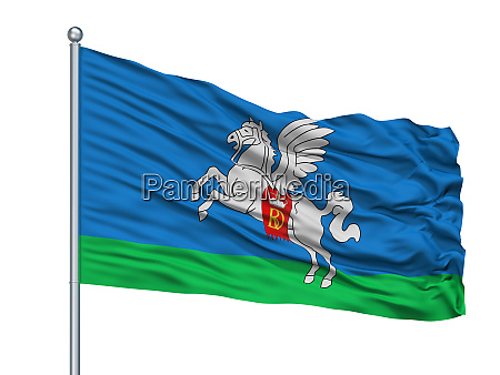 slucak city flag on flagpole belarus