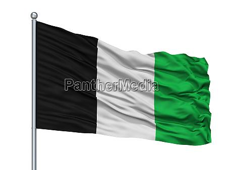 torhout city flag on flagpole belgium
