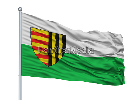 bree city flag on flagpole belgium