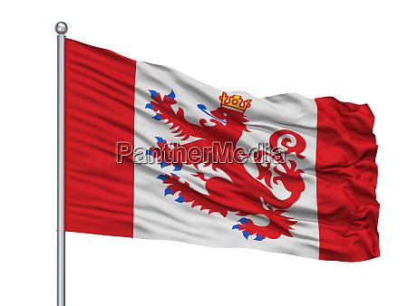 sankt vith city flag on flagpole