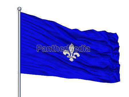 mesenvlag city flag on flagpole belgium