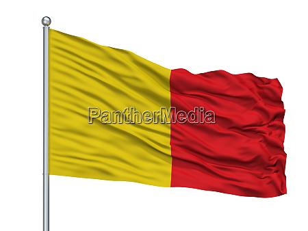wervik city flag on flagpole belgium