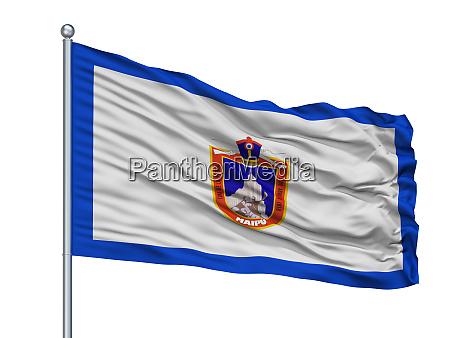 maipu city flag on flagpole chile