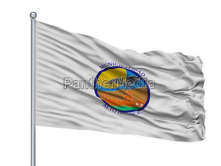 alto hospicio city flag on flagpole