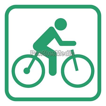 elektrisk cykel piktogram