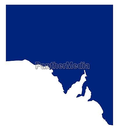 south australia state silhouette
