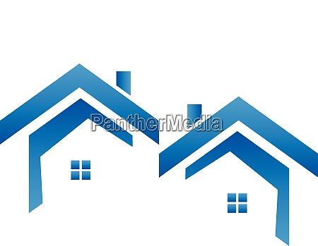 haeuser daecher dachdecker immobilien immobilienmakler logo