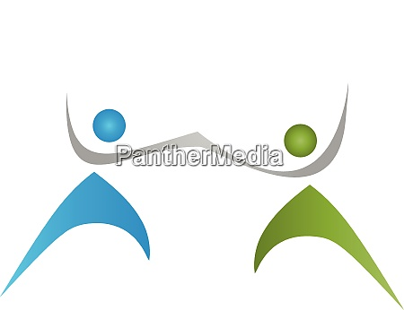 people couple family team logo