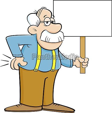 illustrazione del fumetto di un uomo