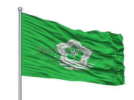 harbin city flag on flagpole china