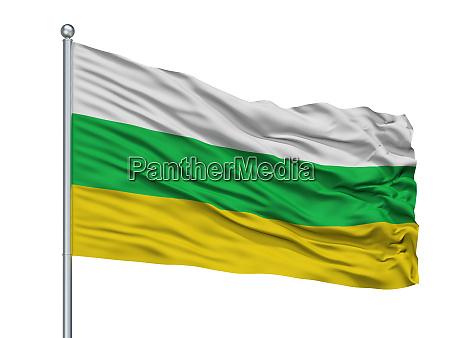 los patios city flag on flagpole