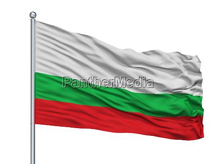 puerto berrio city flag on flagpole