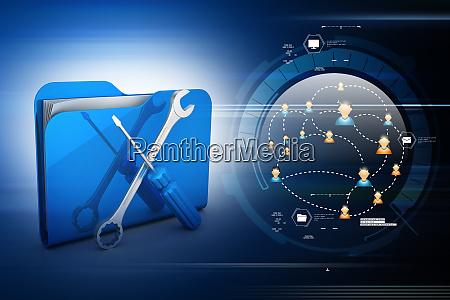 computertechnische servicekonzeptes