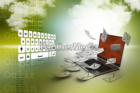 e mail konzept moderne