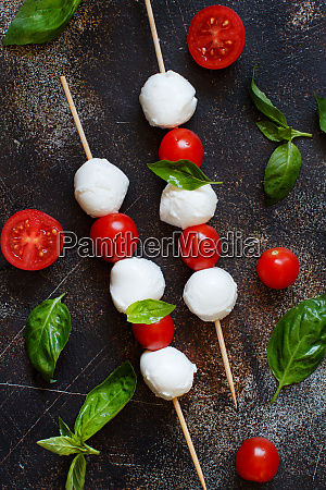 italian cheese mozzarella with tomatoes and