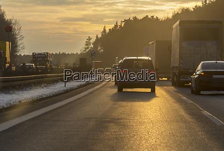 sundown highway scenery