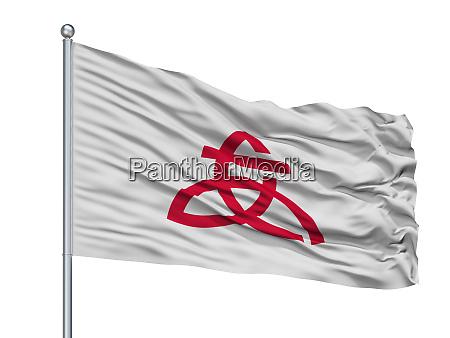 atsugi city flag on flagpole japan