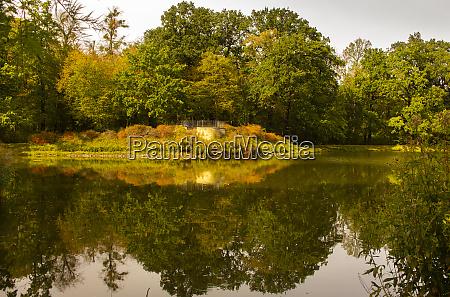 garden lake and park in dresden