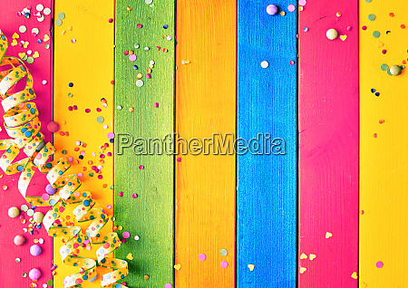 rainbow colored wood carnival background