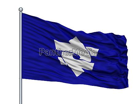 kitaibaraki city flag on flagpole japan