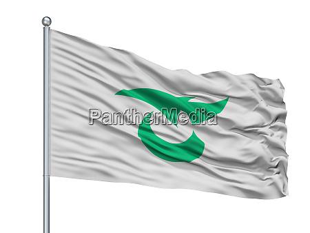 saku city flag on flagpole japan