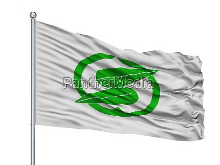 sasayama city flag on flagpole japan