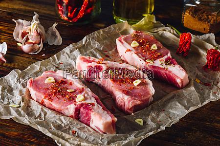 schweineladecheln steaks