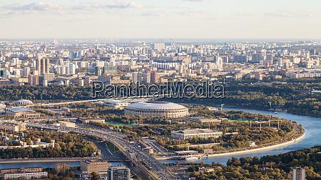 panoramic view of luzhniki arena stadium