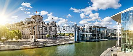 panoramablick, auf, das, regierungsviertel, in, berlin - 25915489