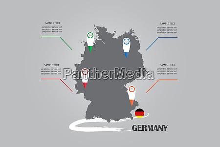 infografik der blindkarte und der kreisflagge
