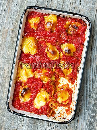 rustic italian baked ravioli pasta casserole