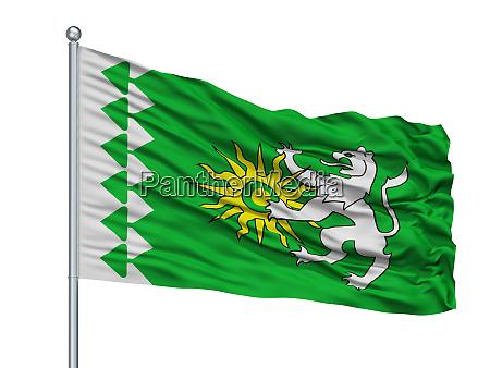 astrakhan city flag on flagpole russia