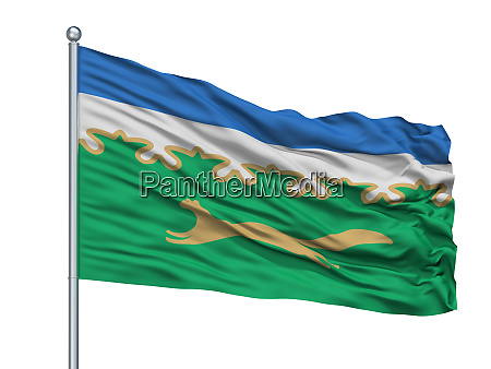salavat city flag on flagpole russia
