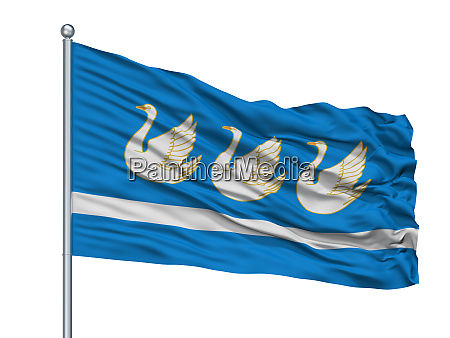 shebekino city flag on flagpole russia