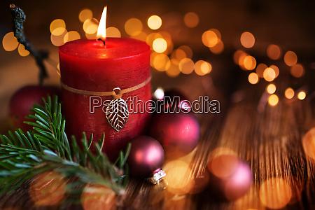 weihnachtskerzendekoration