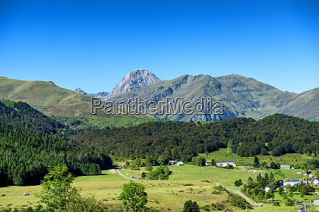 mountain landscape in the pyrenees with