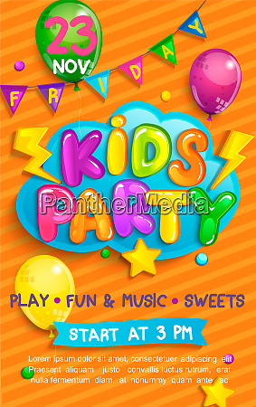 super flyer for kids party in