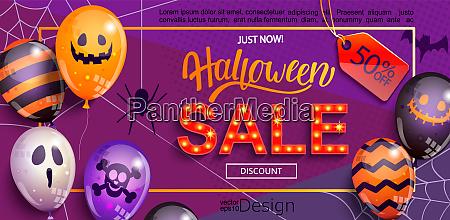 verkauf banner fuer halloween