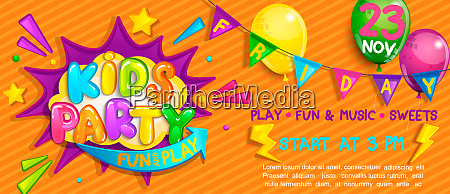 wide super banner for kids party
