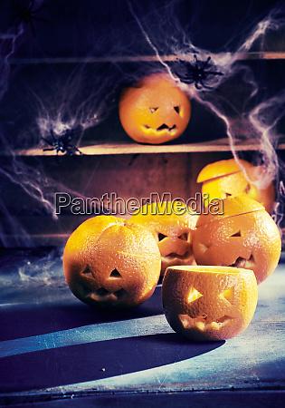 eerie halloween hintergrund mit jack o