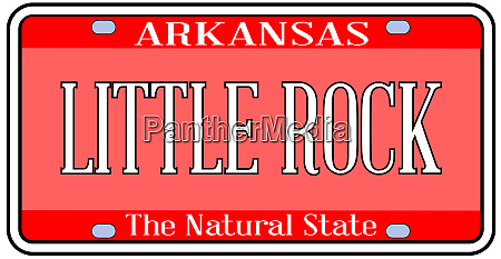 arkansas state license plate with capital