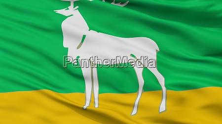 buzuluk stadtflagge russland oblast orenburg closeup