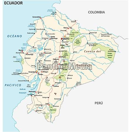 die republik ecuador strasse und nationalpark